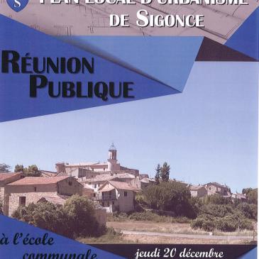 Réunion Publique du Plan Local d'Urbanisme